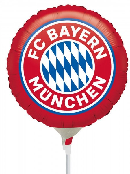 "Anagram Folienballon FC Bayern Munich 23cm/9"" luftgefüllt inkl. Stab"