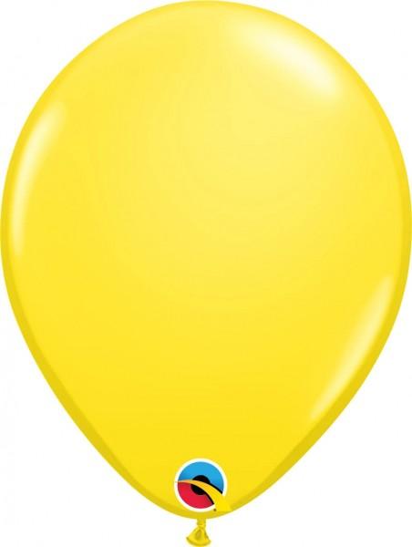 "Qualatex Latexballon Standard Yellow 28cm/11"" 100 Stück"