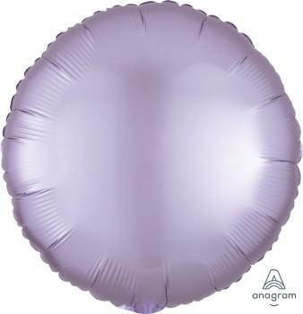 Anagram Folienballon Rund 45cm Durchmesser Satin Luxe Pastell Lila (Pastel Lilac)