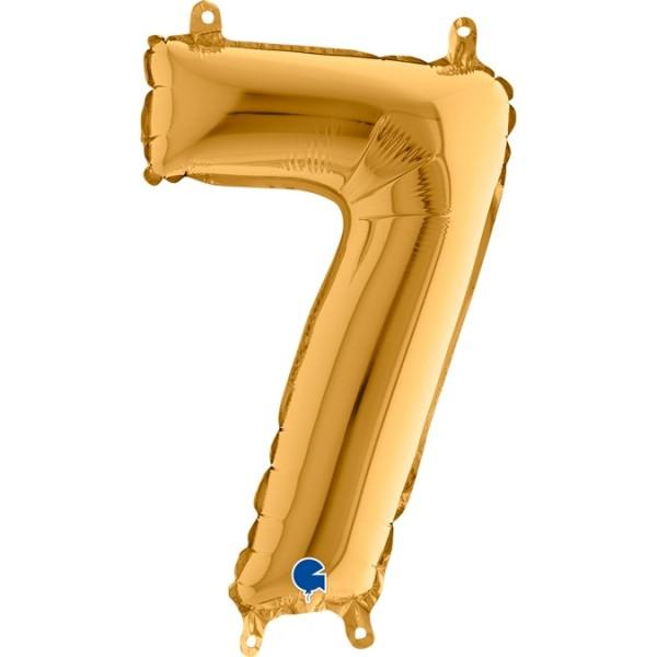 "Grabo Folienballon Zahl 7 Gold 36cm/14"""