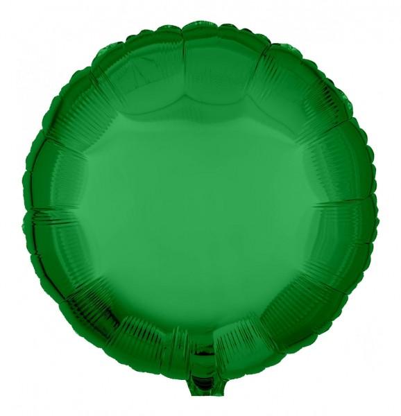 Folienballon Rund, Metallic Grün, 45cm Ø