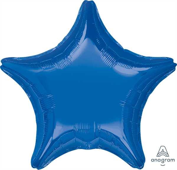 "Anagram Folienballon Stern Dunkelblau (Dark Blue) 20"""