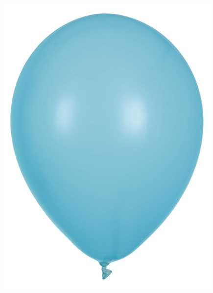 Latex Luftballons, Hellblau, 30cm Ø, 100 Stück