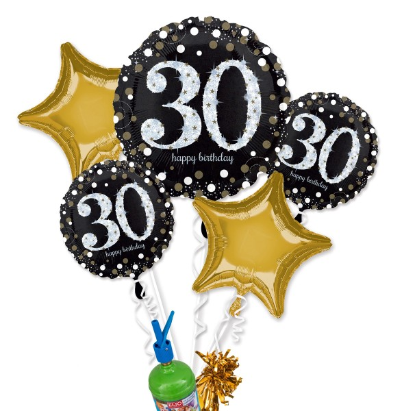 "Folienballon Helium Set ""30. Geburtstag"""