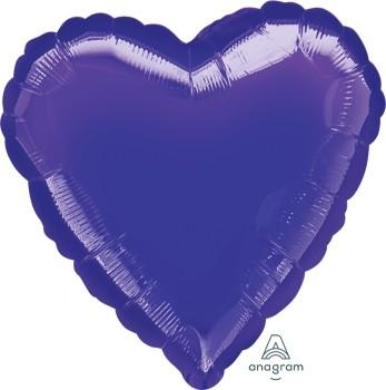 Anagram Folienballon Herz 80cm Metallic Lila (Purple)