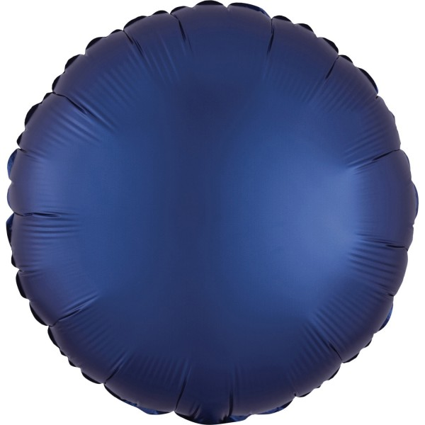 "Anagram Folienballon Rund Satin Luxe Dunkelblau (Navy) 45cm/18"""