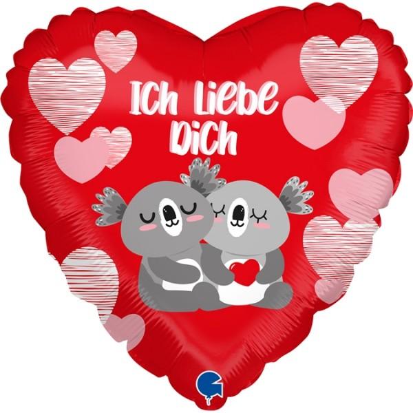 "Grabo Folienballon Ich liebe dich Koala 45cm/18"""