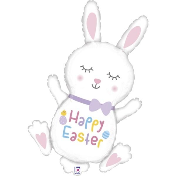 "Betallic Folienballon Hase ""Happy Easter"" 97cm/38"""