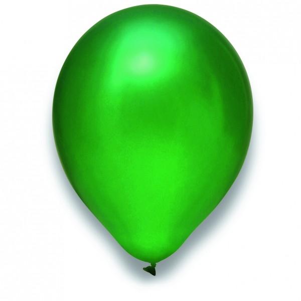 "Globos Luftballons Metallic Grün Naturlatex 30cm/12"" 100er Packung"