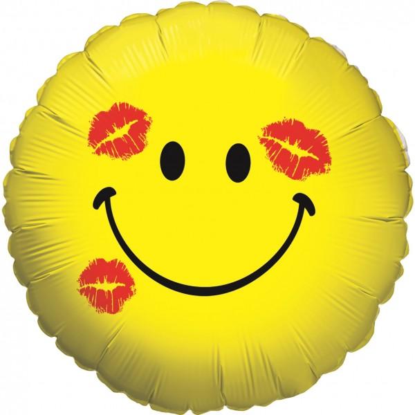 "Betallic Folienballon Smiley Kiss Holo 45cm/18"""