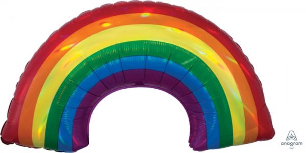 "Anagram Folienballon SuperShape Iridescent Regenogen Holo 85cm/34"""