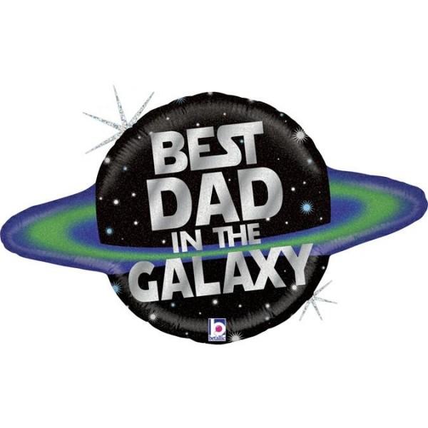 "Betallic Folienballon Best Dad In The Galaxy Holo 46cm/18"""