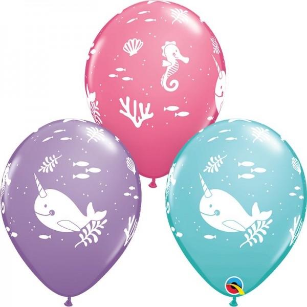 "Qualatex Latexballon Fun Under The SeaHearts Assorted 28cm/11"" 25 Stück"