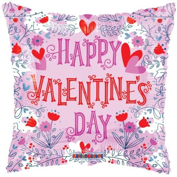 "Kaleidoscope Folienballon Happy Valentines Day Lined Gellibean 45cm/18"""