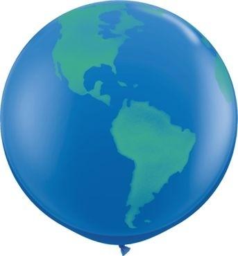 Qualatex Latexballon Globe Dark Blue 90cm/3' 2 Stück