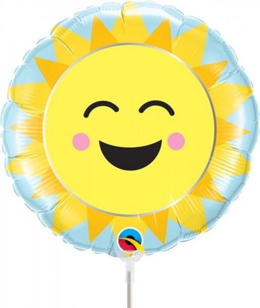 "Qualatex Folienballon Sunshine Rainbow 23cm/9"" luftgefüllt inkl. Stab"