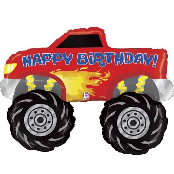 "Betallic Folienballon Monster Truck Birthday 102cm/40"""