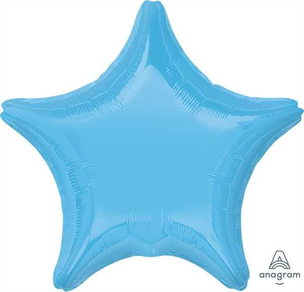 "Anagram Folienballon Stern Hellblau (Pale Blue) 50cm/20"""