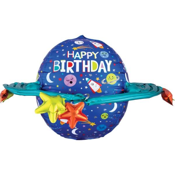 "Anagram Folienballon ""Happy Birthday"" with Galaxie 70cm/27"""