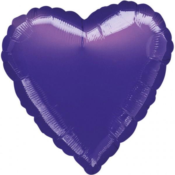 "Anagram Folienballon Herz Metallic Purple 45cm/18"""