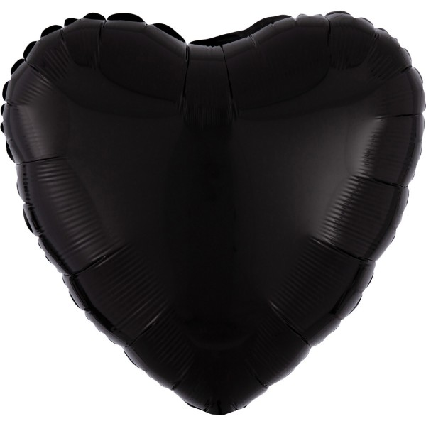 "Anagram Folienballon Herz Schwarz (Black) 45cm/18"""