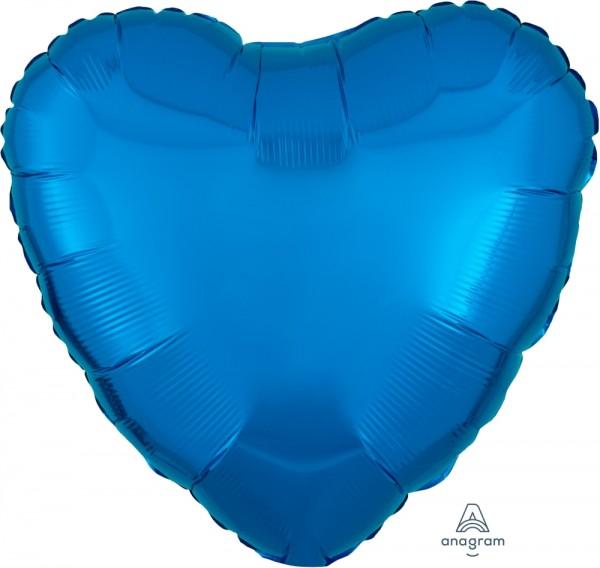 "Anagram Folienballon Herz Metallic Blue 45cm/18"""