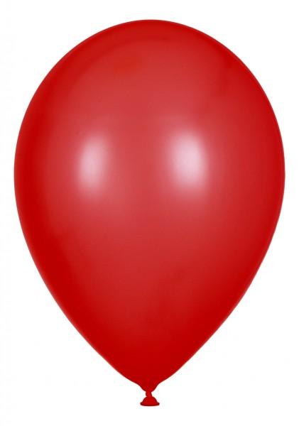 "Globos Luftballons Rot Naturlatex 30cm/12"" 100er Packung"