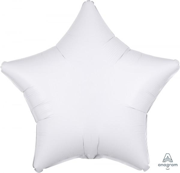 """Anagram Folienballon Stern Metallic White 50cm/20"""""""