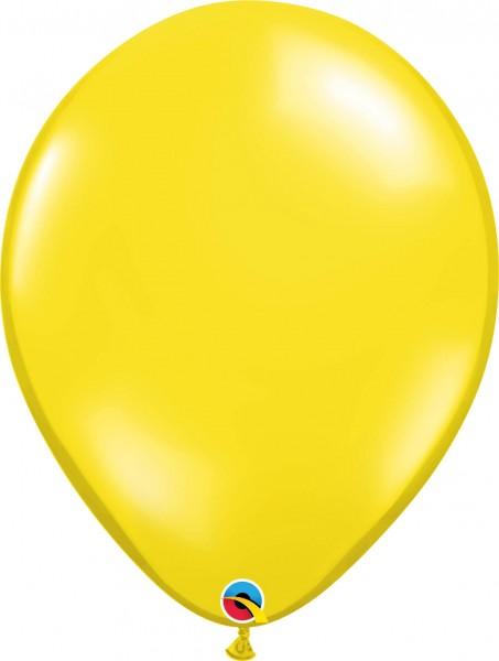 "Qualatex Latexballon Jewel Citrine Yellow 40cm/16"" 50 Stück"