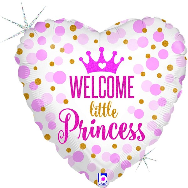 "Betallic Folienballon Welcome little Princess Holo 46cm/18"""