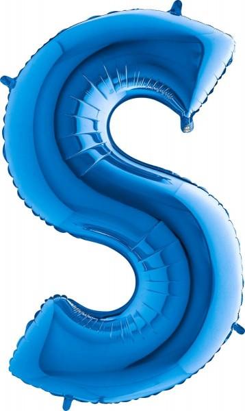 """Grabo Folienballon Buchstabe S Blue 100cm/40"""""""