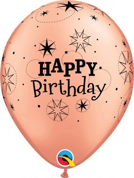 "Qualatex Latexballon Birthday Sparkle 28cm/11"" 6 Stück"