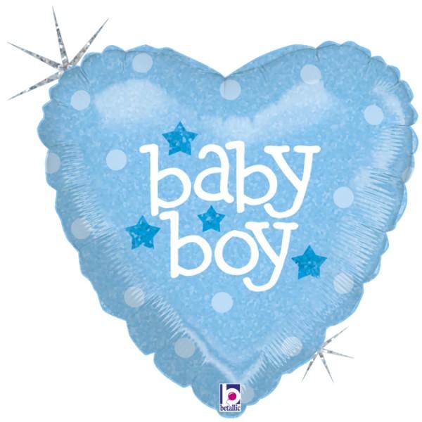 """Betallic Folienballon Baby Boy Holo 45cm/18"""""""