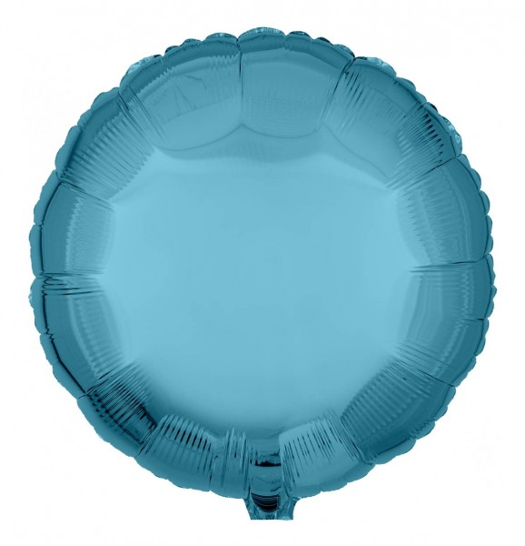 Folienballon Rund, Hellblau, 45cm Ø
