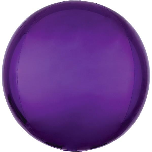 "Anagram Folienballon Orbz Purple 40cm/16"""
