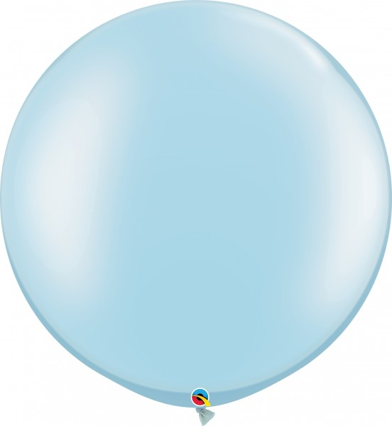 "Qualatex Latexballon Pastel Pearl Light Blue 75cm/30"" 2 Stück"