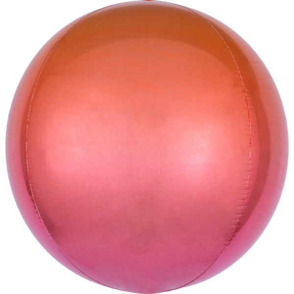 Anagram Folienballon Orbz Ombré Red & Orange 40cm/16""