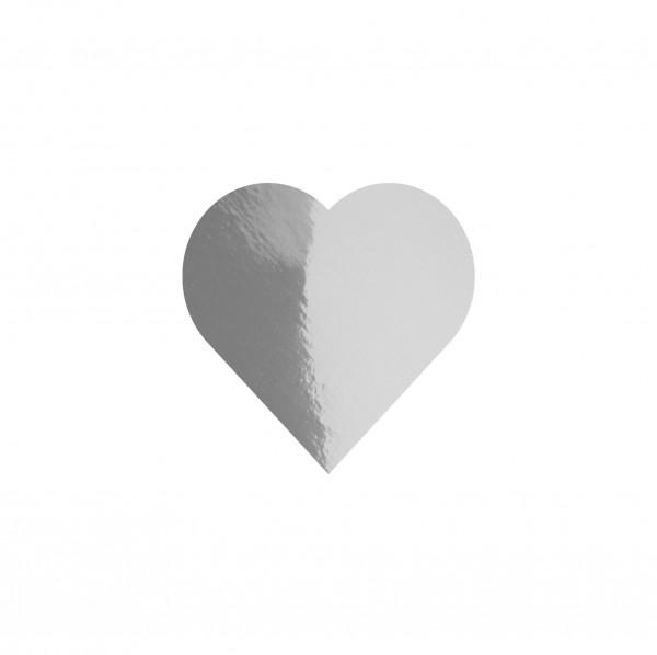 Goodtimes Folienkonfetti 1,7cm Herz 100g Silber