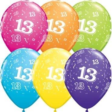 "Qualatex Latexballon 13-A-Round Tropical Assortment 28cm/11"" 25 Stück"