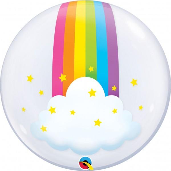 """Qualatex Bubbles Deco Bubbles Rainbow Clouds 60cm/24"""""""