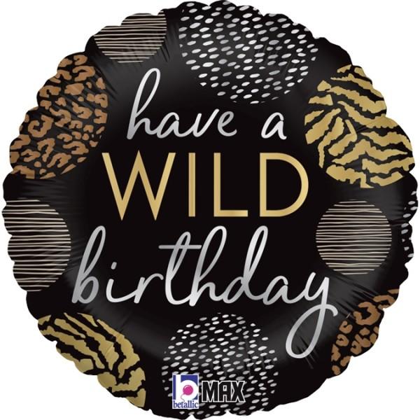 """Betallic Folienballon Wild Birthday 46cm/18"""""""