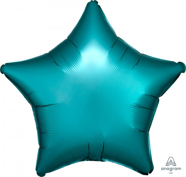 "Anagram Folienballon Stern Satin Türkis 50cm/20"""