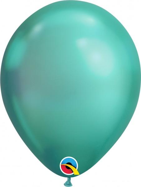 "Qualatex Latexballon Chrome Green 28cm/11"" 100 Stück"
