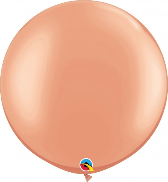 "Qualatex Latexballon Metallic Rose Gold 75cm/30"" 2 Stück"