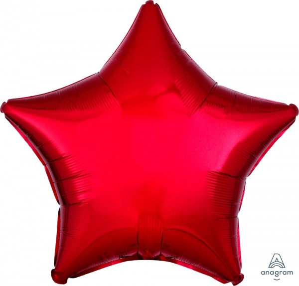 Anagram Folienballon Stern Metallic Red 50cm/20""