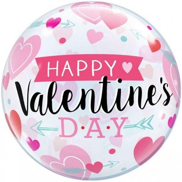 "Qualatex Bubbles Valentine's Arrows and Hearts 55cm/22"""
