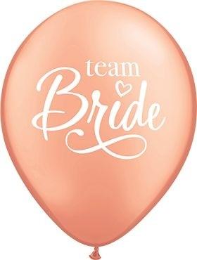 "Qualatex Latexballon Team Bride Rose Gold 28cm/11"" 25 Stück"