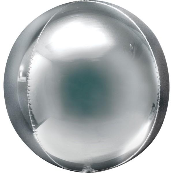 "Anagram Folienballon Jumbo Orbz Silver 50cm/20"""