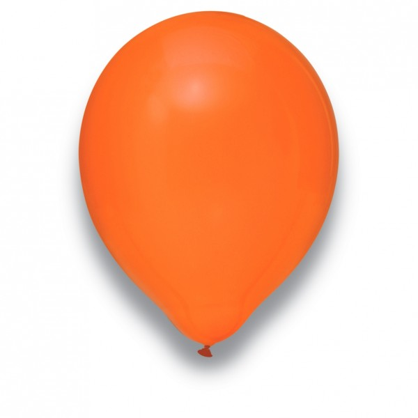 "Globos Luftballons Kristall Orange Naturlatex 30cm/12"" 100er Packung"