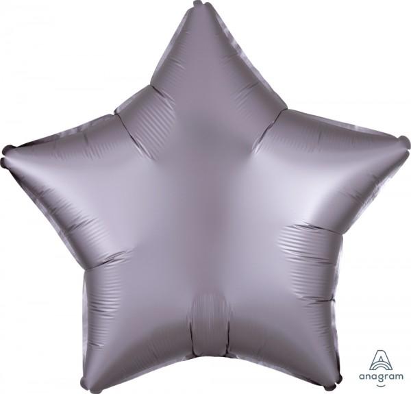 "Anagram Folienballon Stern Satin Luxe Hellgrau (Greige) 50cm/20"""